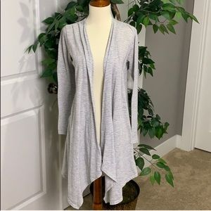 Anthropologie Painted Thread Long Cardigan Sweater